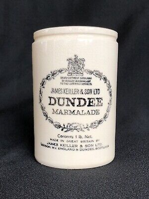James Keiller & Son Dundee Marmalade Crock Jar Antique London Scotland