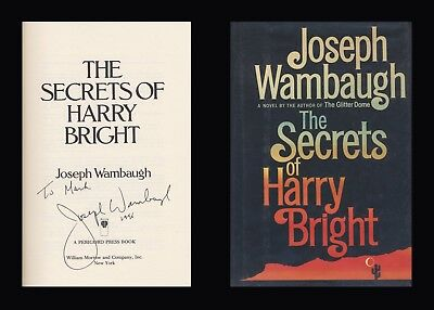 JOSEPH WAMBAUGH Autographed Signed Book THE SECRETS OF HARRY BRIGHT  LAPD