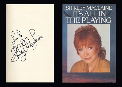 SHIRLEY MACLAINE Autographed Signed Book Academy Award  Best Actress Oscar
