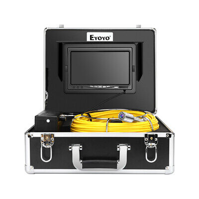 """Eyoyo 7"""" 131ft Pipeline Endoscope Cleaner Industrial Sewer Camera DVR Video 8GB"""