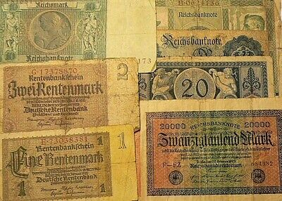 1908 to 1937 Germany Banknotes Lot of 7 #4532