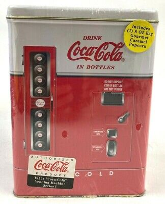 COCA-COLA Coke Bottle Vending Machine Vintage 1997 Collectible Tin Box