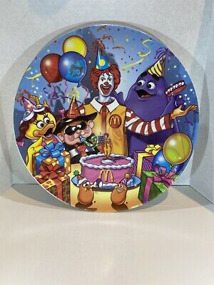 2000 - McDonald's - Collectible Plastic Plate - Birthday
