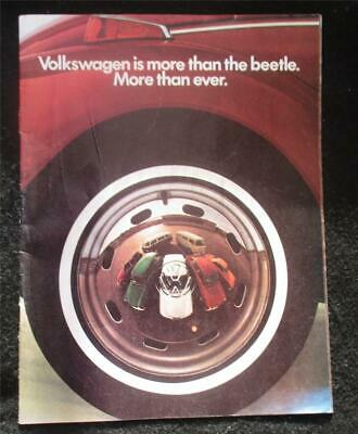 """Vintage Volkswagen Catalog - 1972 - """"More Than The Beetle"""""""