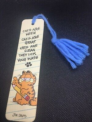 "Garfield Bookmark, Vintage 1978 ""Cats Are Keen..."" poem in Excellent Condition!"