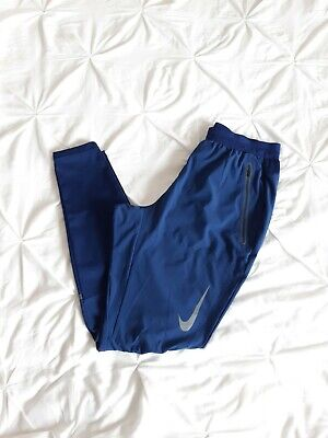 Nike Woman Navy Blue Stretchy Relaxed Leggings Size S Fits M