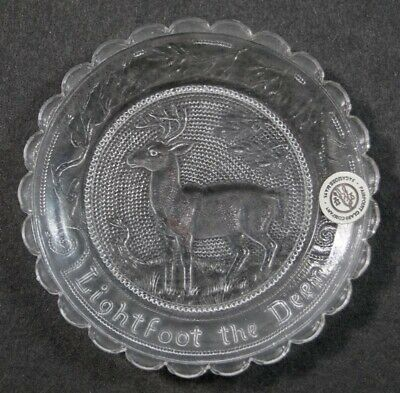 Lightfoot The Deer Pairpoint Cup Plate Burgess Museum Sandwich Home Decoration