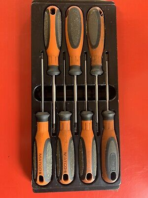 Matco tools Top Torque 2 Oragne 7 Piece Torx Screw Drivers, Sspto7c
