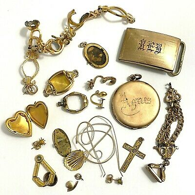 Gold Filled Scrap- 69 grams- Unmarked jewelry, non magnetic, no stones