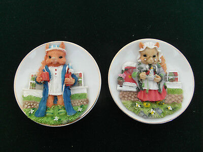 Job Lot of 2 Fox Ornament Dishes Frederic and Fiona Fox by Regency Fine Arts