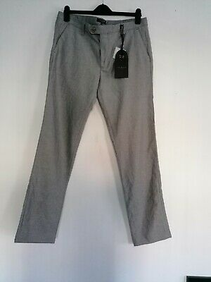 Size 32 R New Ted Baker Classic Fit Brushed Trousers RRP £99