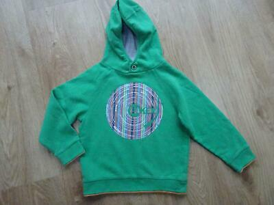 TED BAKER boys green hooded sweatshirt jumper AGE 5 - 6 YEARS EXCELLENT