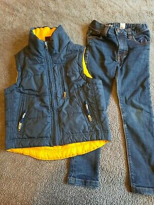 "Kids Gilet And Jeans Set By""Next And Cotton Traders""Age 5-6 Years-Good Condition"