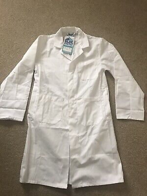 Science Overall Lab Coat White Age 11-12 Years