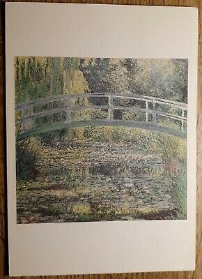Claude Monet (The Water Lily Pond) Postcard - The National Gallery - posted 1991
