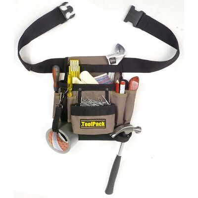 Toolpack Single-Pouch Tool Belt Classic 360.054 Heavy Duty Adjustable Waist
