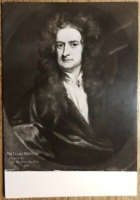 Isaac Newton by Godfrey Kneller Postcard - National Portrait Gallery