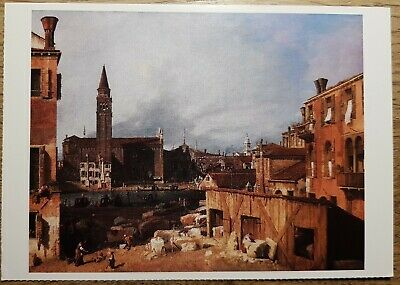 Canaletto (The Stonemason's Yard) Postcard - National Gallery Publications 1045
