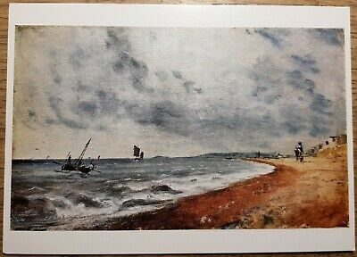 Constable (Hove Beach with Fishing Boats) Postcard - Victoria and Albert Museum