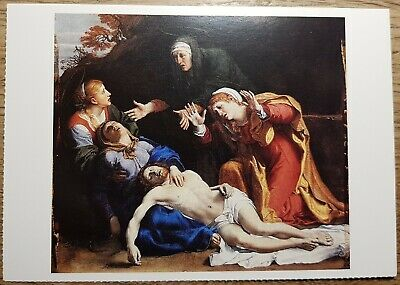 Carracci (The Dead Christ Mourned) Postcard - National Gallery Publications 1702