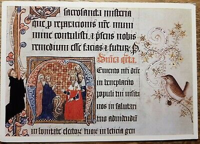 Sherborne Missal c.1400 Showing Moses and Aaron Postcard. A Gordon Fraser card