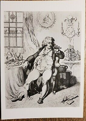 James Gillray (A Voluptuary under the horrors of Digestion) Postcard- V&A Museum