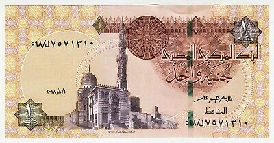 1978-87 Egypt 1 Pound aUNC - Low Start - Paper Money Banknotes Currency