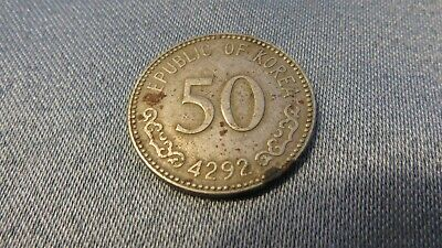 Republic of (South) Korea 4292 (1959) Fifty (50) Won Coin