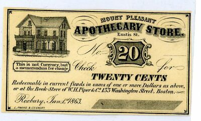 Fantasy 20C Fractional Apothecary Store Currency And Ana $1 Collectory Currency