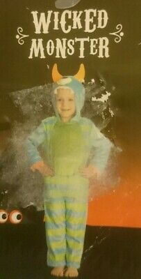 Wicked Monster Halloween Costume Age 3-4 BNWT