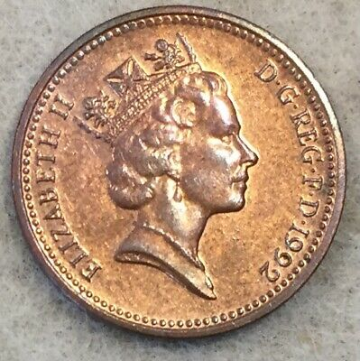 British UK one penny (1 pence) coin, dated 1992