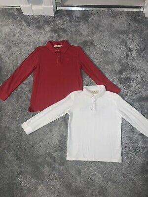 2x Boys Zara Poloshirts Age 8 Years