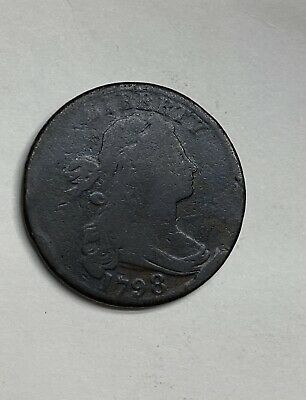 1798 S-153 R-3 LDS Draped Bust Large Cent Coin 1C