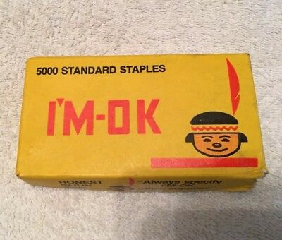 VINTAGE STAPLES - General Office Supply Co., I'M-OK WIRE STANDARD STAPLES