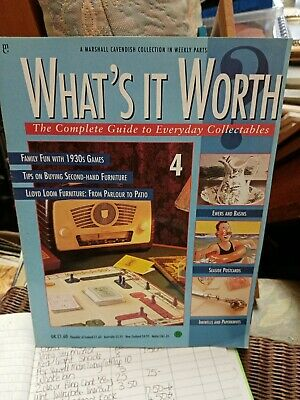Whats It Worth. 4 Collectable Weekly Marshall Cavendish magazine