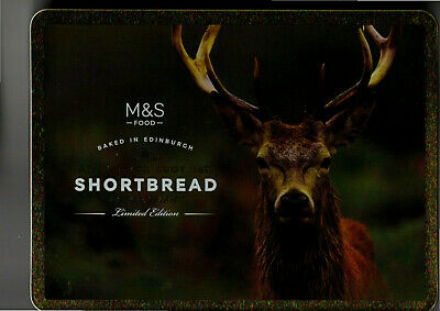 Marks & Spencers Shortbread Biscuits tin with Red Deer Stag design no 2