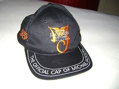 Michael Jackson cap History world Tour 1996 100% cotton one size black