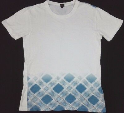 PAUL SMITH PS White T Shirt M Slim Fits L Ethic Art Work Design Tee Graphic OG