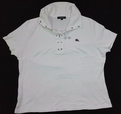 BURBERRY LONDON Cap Sleeve Women's Polo Shirt T
