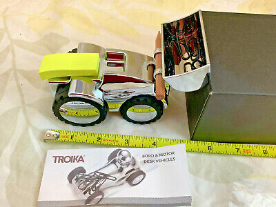 Contractor Desk Organizer Troika Digger Chrome Excavator Friction Motor GERMANY
