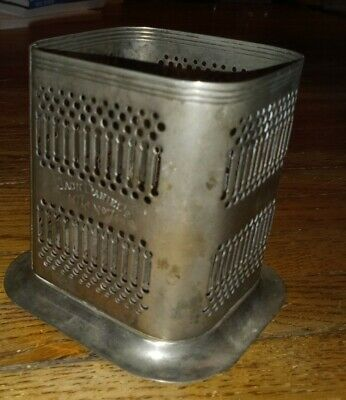 JACK DANIELS OLD NO. 7 Silver plate(d) bottle holder caddy stand coaster ENGLAND