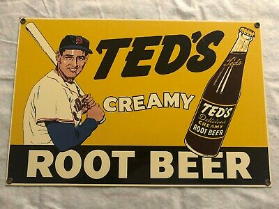 Ted's Creamy Root Beer Ted Metal Sign
