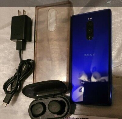 """Sony Xperia 1 J8170 128GB 6.5"""" Android Smartphone GSM Unlocked Purple"""