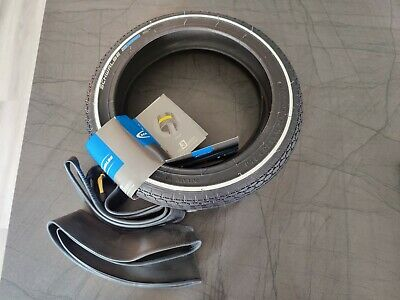 """Pair Schwalbe 12"""" X  1.75  Tyres And Inner Tubes Set"""