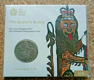 Royal Mint Brilliant Uncirculated £5 Five Pounds Crown Coin Original Sealed Pack