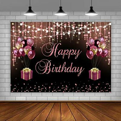 10x6.5ft Happy 30th Birthday Backdrop Bling Gold and Purple Birthday Photography Backdrops Balloons Heels Champagne Glass Fabulous Vinyl Background Birthday Party Decorations Supplies