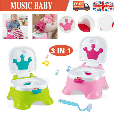 3 in 1 Baby Music Toilet Trainer Child Toddler Kid Potty Urinal Training Seat UK