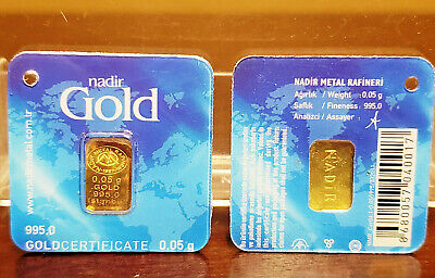 1 Gram Gold Bar Nadir With Certificate 62 00 Picclick Uk