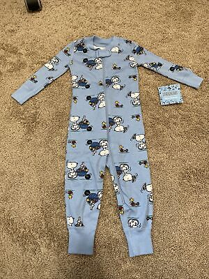 Hanna Andersson Baby 12-18 Month Blue Abstract Camo Zipper Pajamas One PIece NWT