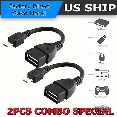 PRO OTG Power Cable Works for Kyocera C5215 with Power Connect to Any Compatible USB Accessory with MicroUSB